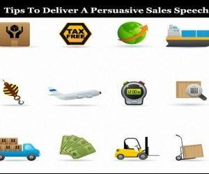 Persuasive sales speech