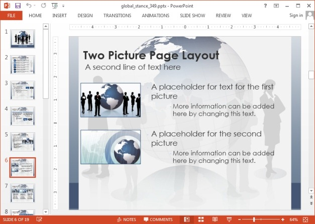 Picture layout in PowerPoint