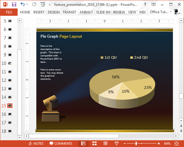 Pie chart with spotlight animation