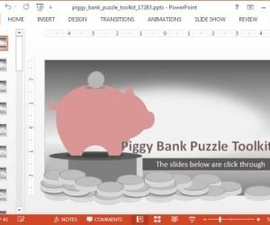 Piggy Bank Animated Financial PowerPoint Template