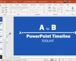 Animated Point A to B Timeline for PowerPoint
