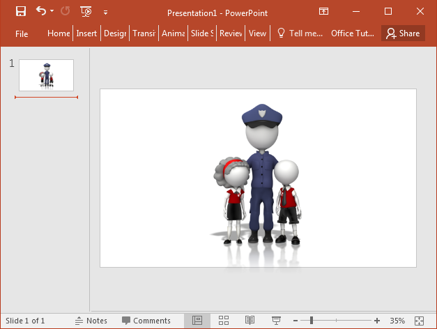 Police officer with children clipart