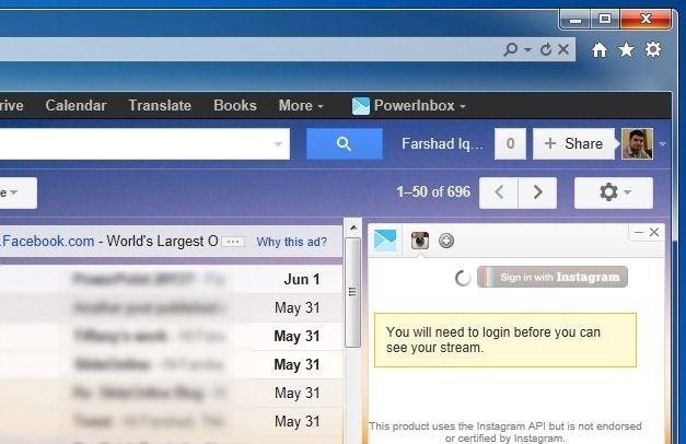 PowerInbox on Internet Explorer