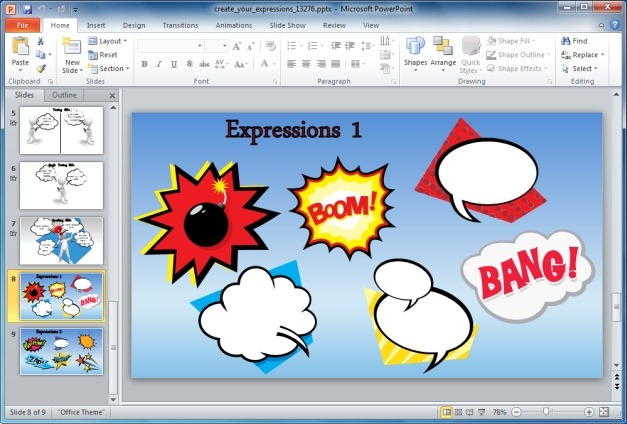 PowerPoint Custom Expressions Clipart