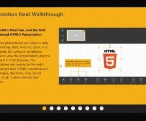 Create Movie Like HTML5 Presentations in Windows 8 With Presentation Next