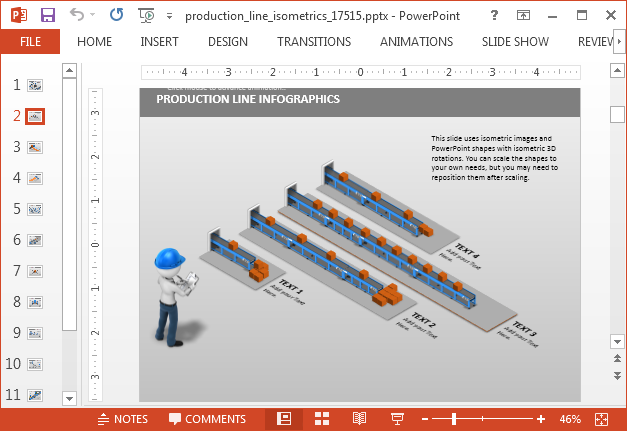 Production line PowerPoint template