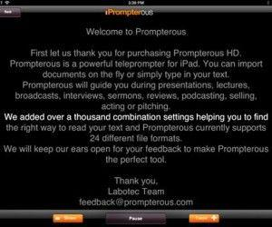 Prompterous: Turn iPad Into A Scrolling Teleprompter For Presentations