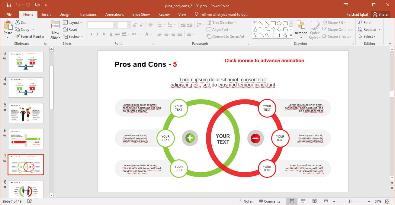 Pros and Cons Infographic Slide
