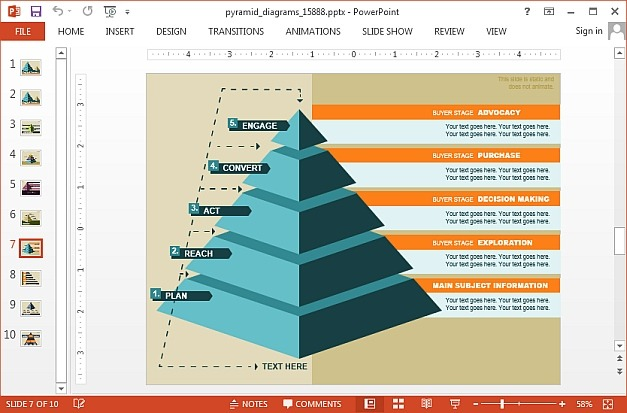 Pyramid diagrams for Microsoft PowerPoint