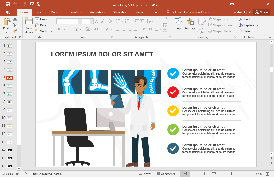 Radiology PowerPoint Template