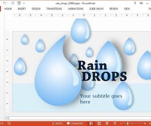 Animated Rain Drops PowerPoint Template