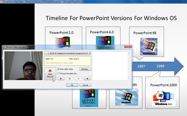 how to get rid of recording on powerpoint