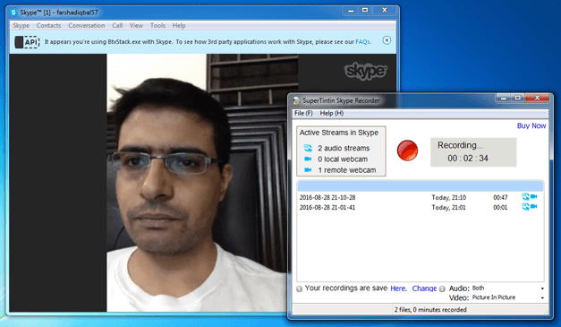 Skype recorder for Windows