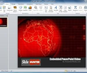 Red Earth PowerPoint Template And Video Animation
