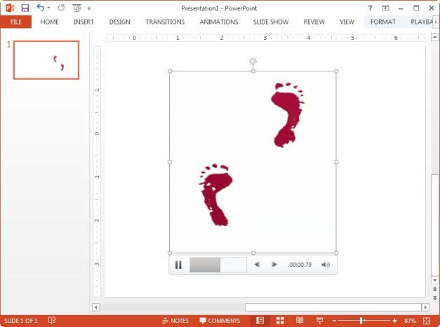 Red footsteps animated clip art