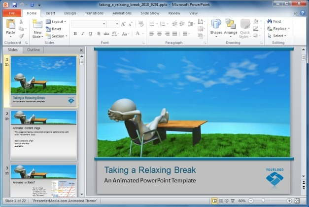 Relaxing Break PowerPoint Template