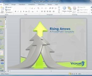 Rising Arrows PowerPoint Template For Business Presentations