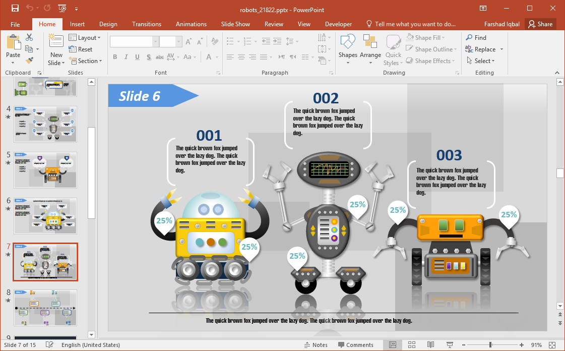 Robots for PowerPoint