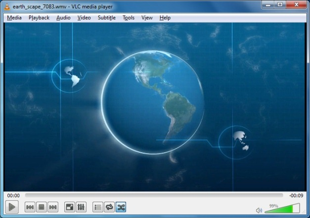 Rotating earth PowerPoint animation