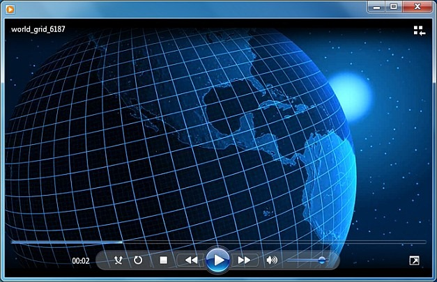 Rotating earth WMV animation