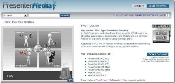 SWOT Tool Kit - A PowerPoint Template from PresenterMedia