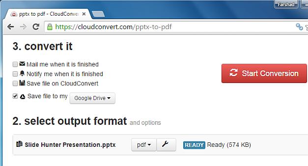 Save file to Google Drive
