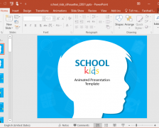 Animated School Kids PowerPoint Template