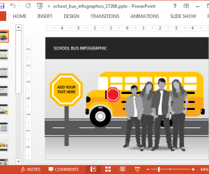 School Bus Infographics PowerPoint Template