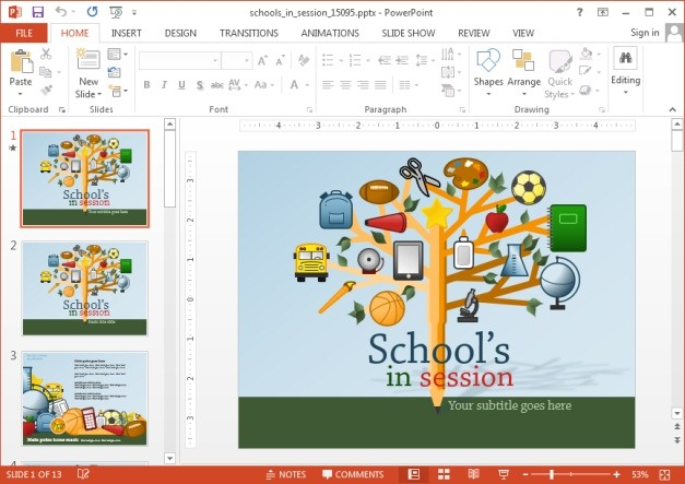 Schools in session animated PowerPoint template