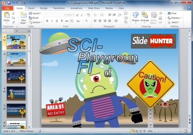 Sci Fi Playground PowerPoint Template