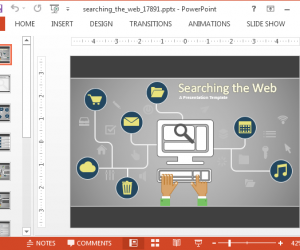 Searching The Web Animated PowerPoint Template