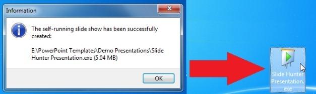 Self-running slide show