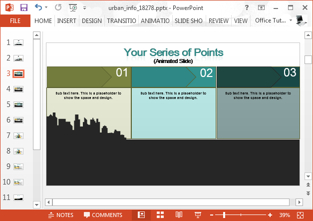 Series slide in PowerPoint