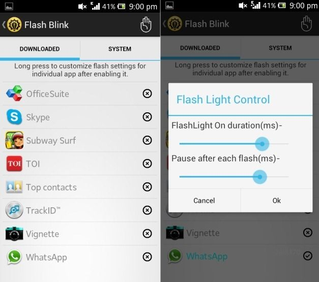 Set Flash Light Blinking Duration On Android