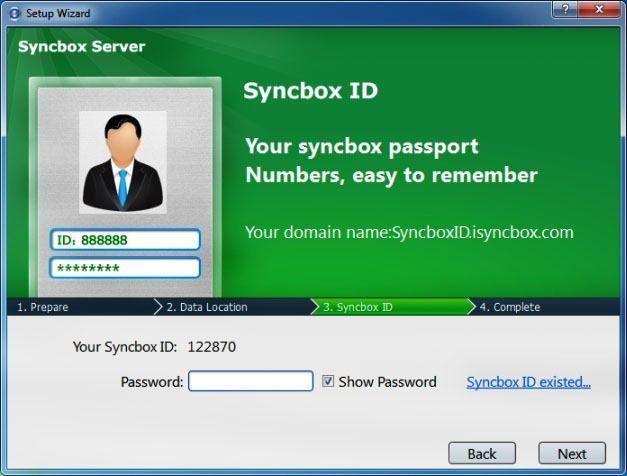 Setup Syncbox Server Credentials