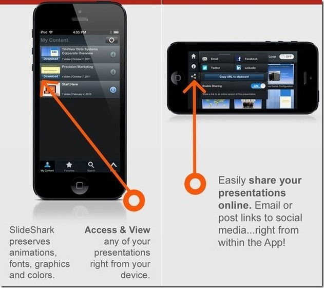 Share PowerPoint presentations with SlideShark