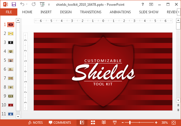 Shield logo Powerpoint template