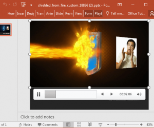 Shielding From Fire Video Animation For PowerPoint