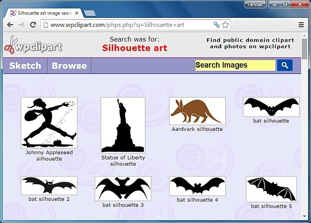 Silhouette art at WPClipart