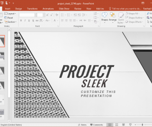 Project Sleek Presentation Template for PowerPoint