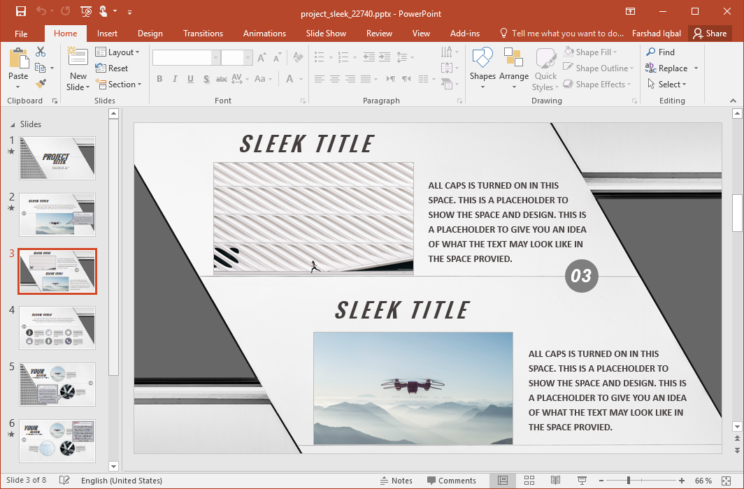 Sleek Presentation Template for PowerPoint