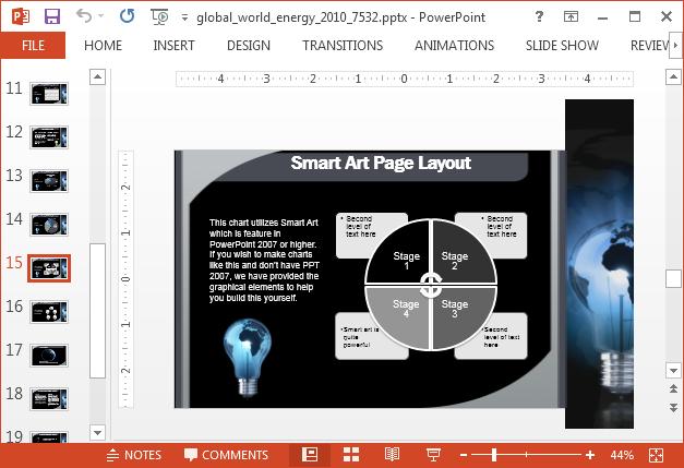 SmartArt page layout