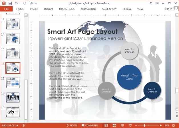 SmartArt slide in PowerPoint