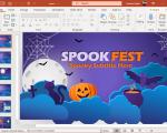 Spookfest Autumn Halloween PowerPoint Template