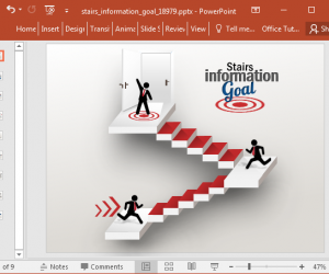 Animated Stairs PowerPoint Template