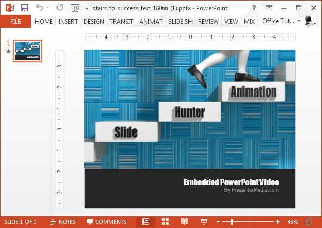 Stairway to success video animation-for PowerPoint