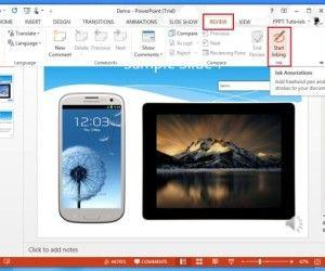 How To Annotate PowerPoint 2013 Presentations With Ink Tools