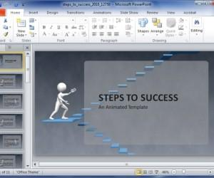 Steps To Success Template For PowerPoint Presentations