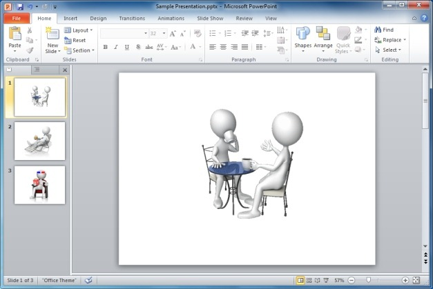 Stick Figure Coffee Table Talk Clipart