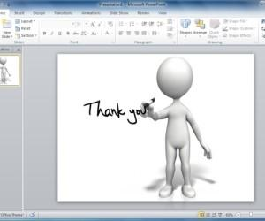 Finish Your PowerPoint Presentations With Animated Thank You Clipart